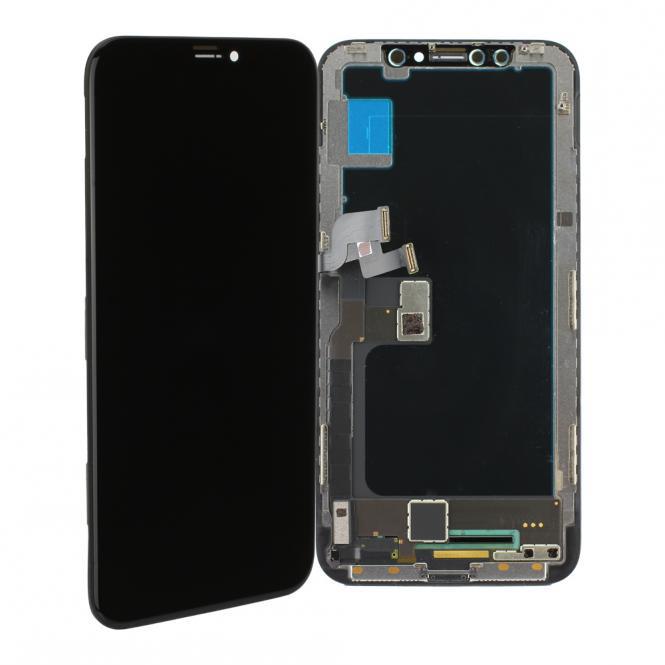 LCD-Display-Einheit komplett incl. Touchscreen fĂĽr iPhone X, schwarz