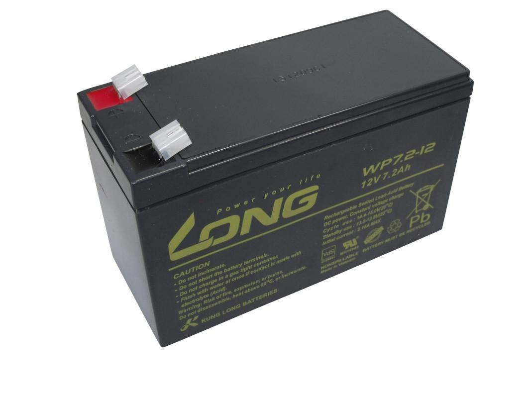 Blei-Akku Long WP7.2-12, 12 V, 7,2 Ah, 10-Jahres-Batterie