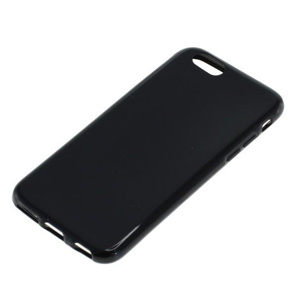 BackCase für Apple iPhone 6/6S aus flexiblem TPU, schwarz