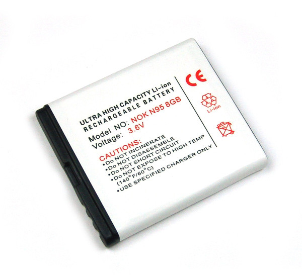 Akku für Nokia 6210 Navigator, 6260 Slide, 6290, 6710 Navigator, 6788, E65, N78, N95, wie BL-6F
