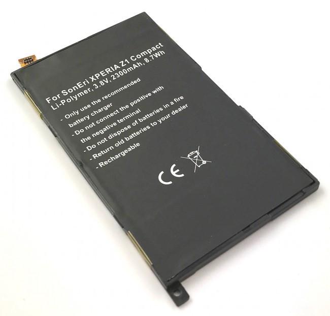 Akku fĂĽr Sony Xperia Z1 Compact, Xperia Z1 Mini, Amami, Amami Mak, wie 1274-3...
