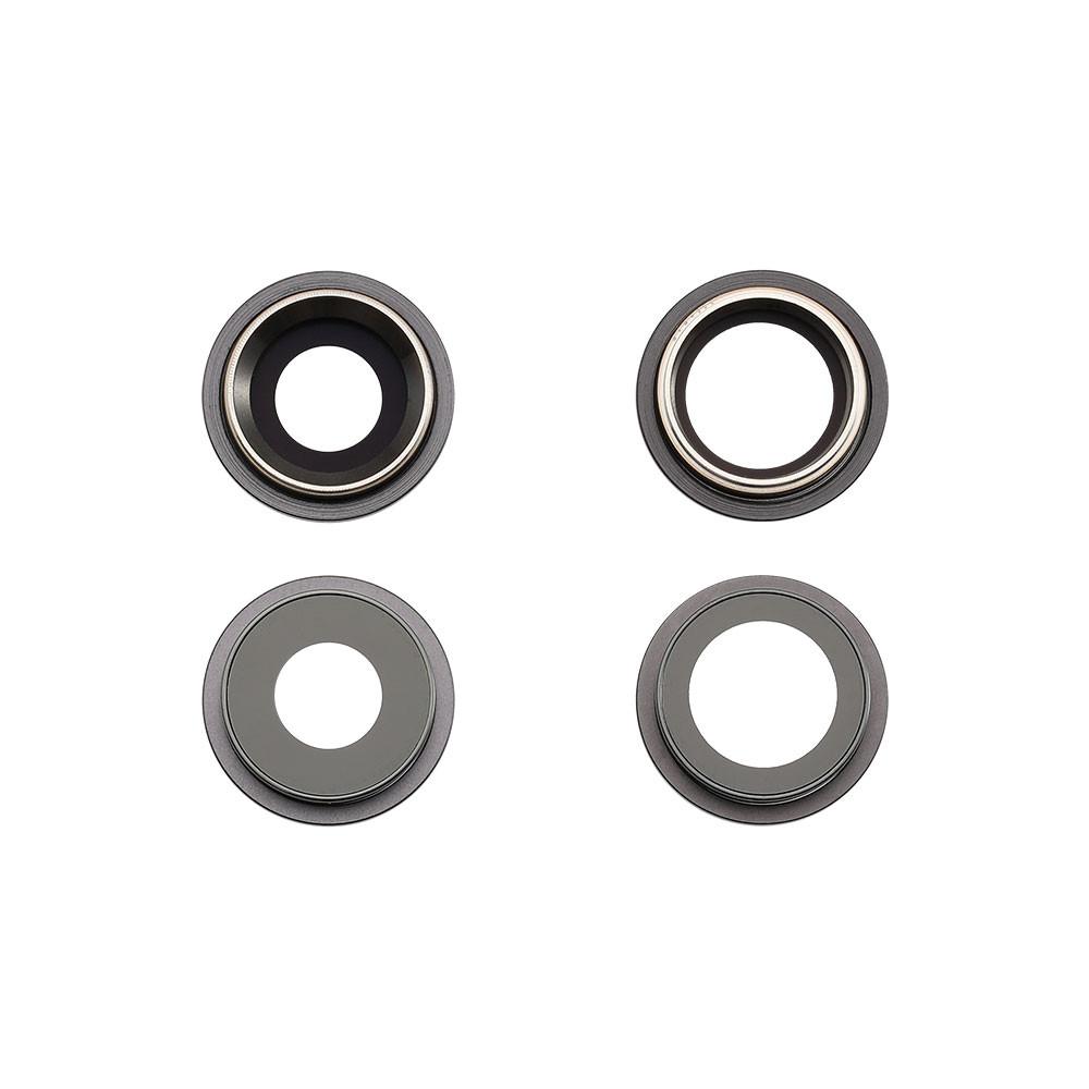 Apple Rücken- /Hauptkameralinse, 2 Stück, passend für iPhone 11, schwarz