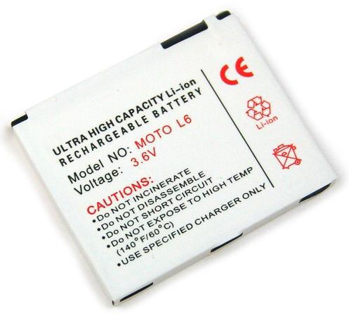 Akku für Motorola Aura, C257, C261, EM35, K1 MOTOKRZR, L2, L6 SLVR, L7, V3x, wie BC50, BC60
