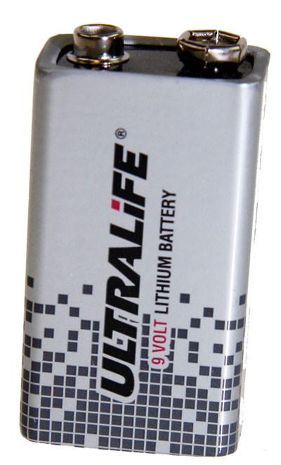 Lithium-Batterie UltraLife U9VL, 6AM6, 9 Volt, 1200 mAh, wie 6AM6, 9V E-Block...