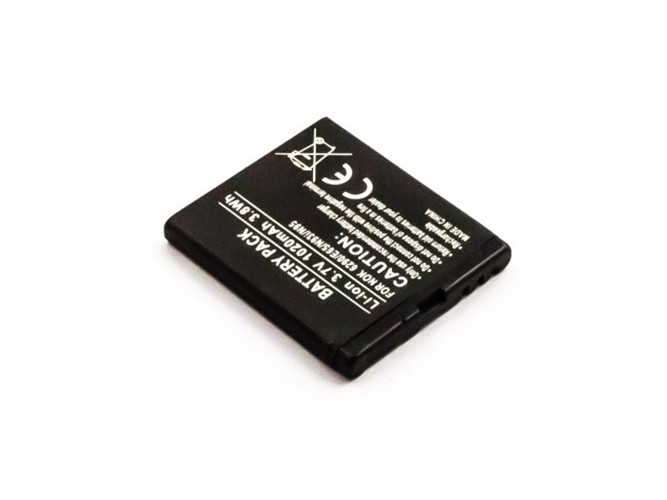 Akku für Nokia 6210 Navigator, 6290, 6710 Navigator, E65, N78, N93i, N95, X5 ...